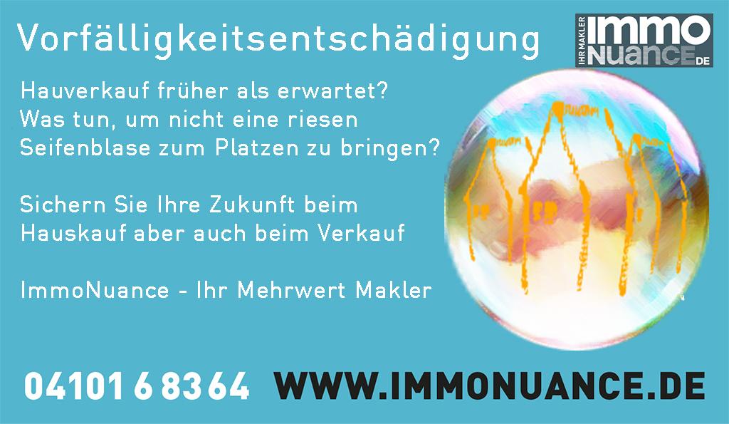 Vorfälligkeitsentschädigung Hausverkauf Immo verkaufen Wohnung verkaufen Hamburg Pinneberg Elmshorn Immobilienmakler