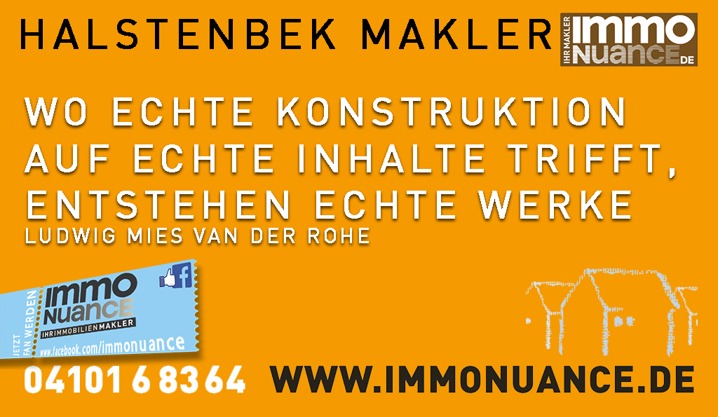 Halstenbek Makler Verkauf Immobilie Haus Wohnung Villa Bungalow Reihenhaus Immmobiliemakler verkafuen