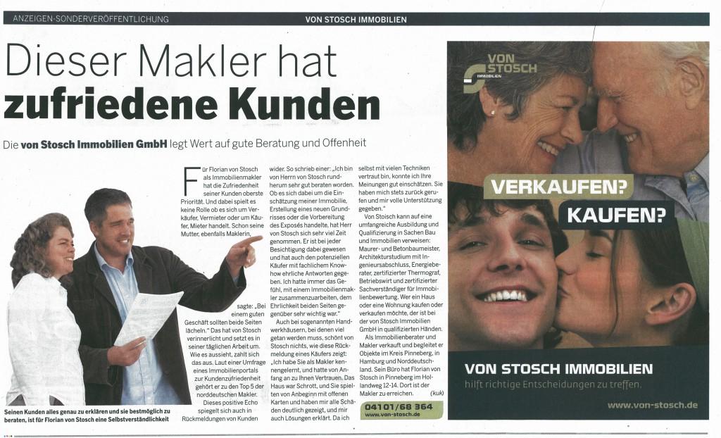 von Stosch Immobilie GmbH Verkauf Vermietung Immobilienmakler Kreis Pinneberg Hamburg St Peter Immo Immobilie