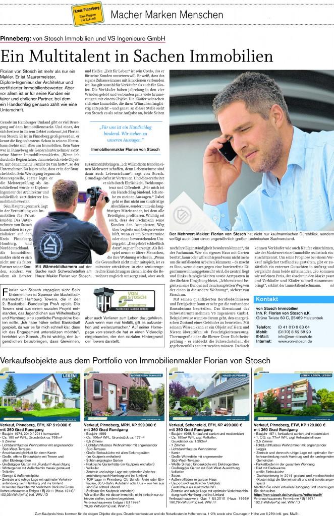 Maklerbüro Pinneberg Hausverkauf von Stosch Florian Immo Wohnung verkaufen Haus