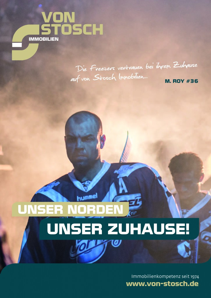 Goalie Stick der Hamburg Freezers gewinnen von Stosch Immobilien