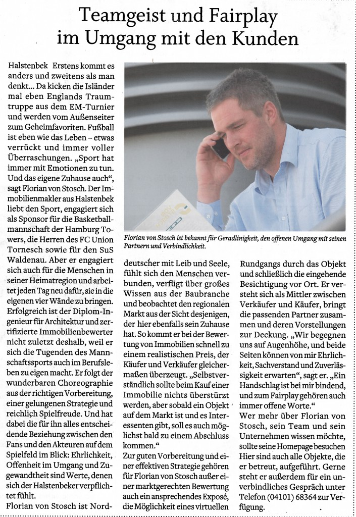 Maklerbüro Kreis Pinneberg