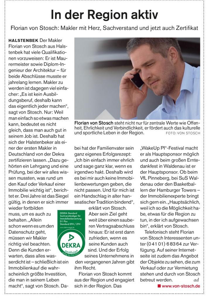 In der Region aktiv Immobilienmakler Pinneberg